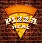 三角形披萨店招牌