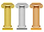 彩色罗马柱矢量
