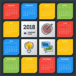 2018年图标日历