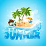 夏季海滩旅游