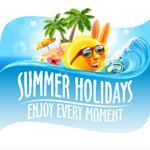暑期旅游度假元素