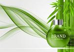 竹叶护肤品广告