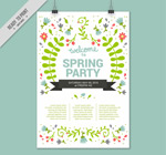 花卉春季派对海报