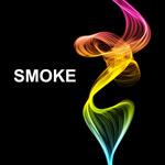 唯美卷曲烟雾