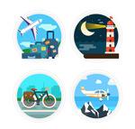 圆形旅行标签