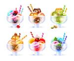 水果冰淇淋矢量