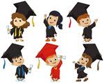 毕业卡通儿童