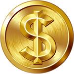 圆形美金符号