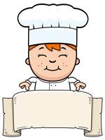 横幅上的女厨师