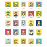 卡通职业人物图标