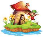 海岛上的蘑菇屋