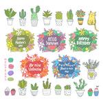 盆栽和节日标签