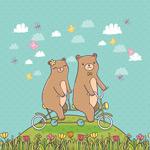情侣熊矢量