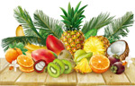 堆放的新鲜水果