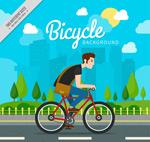 骑单车的城市男子