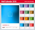 2018年全年日历