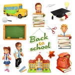 儿童教育学习元素
