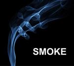蓝色抽象曲线烟雾