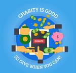 慈善捐助海报