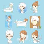 女孩卫生清洁护理