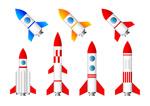 卡通火箭飞船