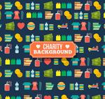 慈善元素无缝背景