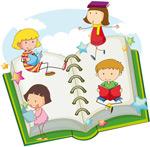 看书学习的孩子