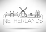荷兰城市线条
