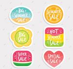 夏季特色促销标签