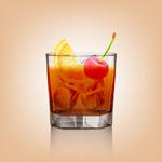 玻璃杯中的果汁
