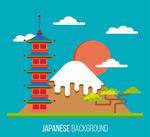 富士山风景插画