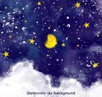 蓝色夜空风景