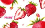 美味的草莓矢量