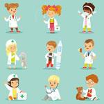 卡通医护人员