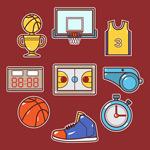 篮球元素矢量