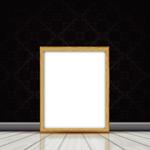 实木空白相框