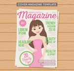女孩时尚杂志封面