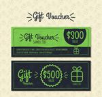 绿色礼品券设计