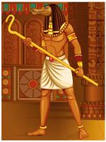 古埃及野兽矢量