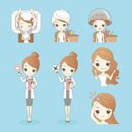 女孩头发造型护理