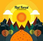 森林日落风景