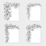 植物花纹边角边框