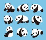卡通可爱大熊猫