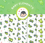 婴儿用品无缝背景