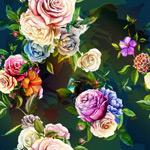 多彩手绘花朵背景