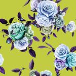 复古手绘彩色花朵