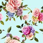 手绘多彩花卉背景