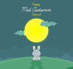 中秋望月的兔子