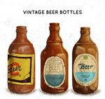 复古瓶装酒类