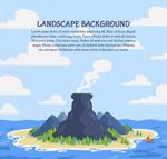 海岛火山风景